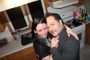 This is the night of my diagnosis. (Because kitchen dancing always makes things a little better)
