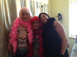 Me and two good friends, Marlene and Cheri. Cheri postponed her flight home so that she could be part of this.