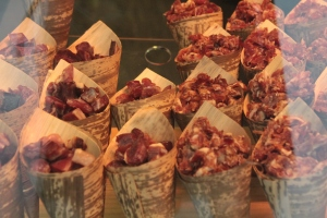 Cornets of cured meat. Unapologetic about the love of and indulgence in meat.